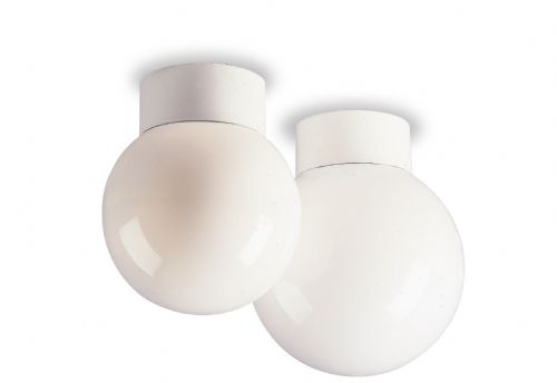 Firstlight 1090WH White Opal Glass Sphere - 60w